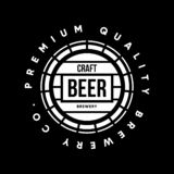 Modern craft beer drink vector logo sign for bar, pub or brewery, isolated on black background. Premium quality barrel logotype tee print badge illustration stock illustration