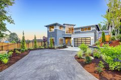 Modern craftsman style home exterior. Stock Image