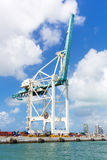 Modern crane at the Port of Miami Stock Photos