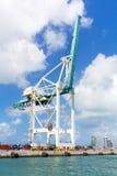 Modern crane at the Port of Miami Stock Photos