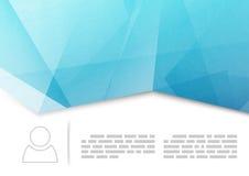 Modern crease brochure or booklet template. Tri-fold blue polygonal brochure design background. Vector illustration Stock Photography