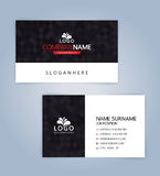 Modern Creative Clean Business Card. Template, Illustration Vector 10 Stock Photo