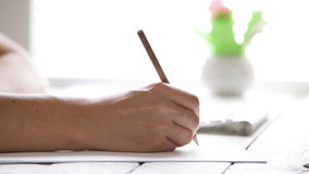 Modern creative designer drawing a sketch stock footage