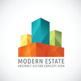 Modern or Creative Estate Abstract Vector Concept Stock Images