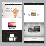 Modern creative one page website design Royalty Free Stock Photos