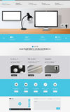 Modern creative one page website design template, Vector Eps 10 Royalty Free Stock Image