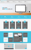 Modern creative one page website design template, Vector Eps 10 Stock Photos