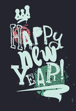 Modern creative poster Happy New Year Grunge style Royalty Free Stock Photos
