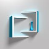 Modern creative shelves template Stock Photography