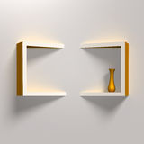 Modern creative shelves template Royalty Free Stock Images