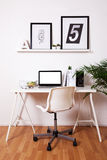 Modern creative workspace. Royalty Free Stock Images