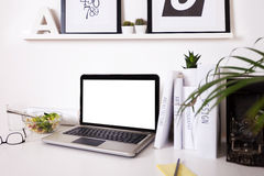 Modern creative workspace. Stock Images