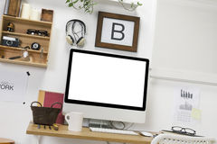 Modern creative workspace. Stock Photography