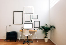 Modern creative workspace. Royalty Free Stock Photo