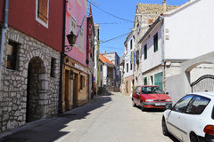Modern Croatian seaside town Stock Photography
