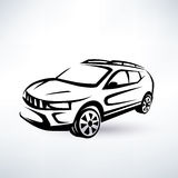 Modern crossover, offroader sport car Stock Photography