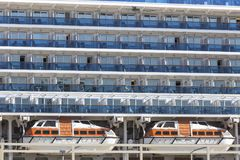 Cruise ship background Royalty Free Stock Photography