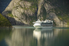 Modern cruise ship sailing Stock Photography
