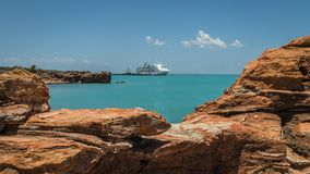 Modern Cruise Ship Tied Up To Jetty. Stock Photography