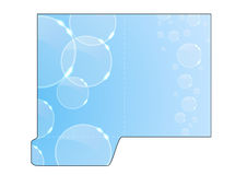 Modern crystal concept - folder cut-out Royalty Free Stock Photography
