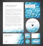 Modern Crystal Graphic Business Layout Royalty Free Stock Photo