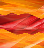 Modern Crystal red and yellow prism background Stock Photography