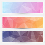 Modern crystal structure banners web Royalty Free Stock Photos