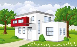 Modern cube building Royalty Free Stock Photography