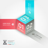 Modern cube origami style options banner. Stock Photography