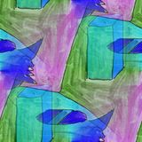 Modern cube seamless watercolor artist wallpaper texture of hand Stock Photography