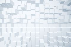 Modern cubes background. Modern light cubes brick background with shadows. Design and style concept. 3D Rendering stock illustration