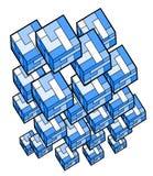 Modern cubes figures Stock Image