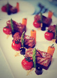 Modern cuisine appetizer, toned image Stock Images