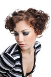 Modern curly hairstyle Royalty Free Stock Image