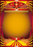 Modern curtain. A background for your new show Royalty Free Stock Images