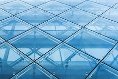 Modern curtain wall made of glass and steel. Constructions Stock Photos