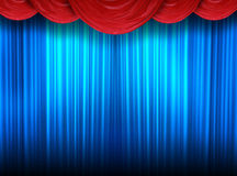 Modern curtains of a theater Royalty Free Stock Photography