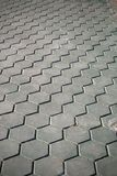Modern Curve floor stone walkway arrange in line public park.  royalty free stock images