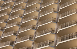 Modern Curved Building Close-up royalty free stock image