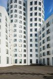 Busty architectures in Dusseldorf. Modern curved buildings in Dusseldorf Stock Photos