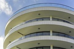 Modern curved hotel building royalty free stock image