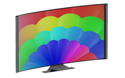 Modern curved tv set Royalty Free Stock Image