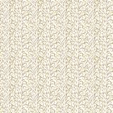 Abstract golden curls on white background. royalty free illustration