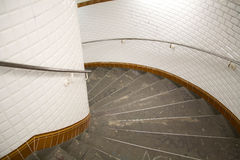 Modern curving staircase Stock Photos
