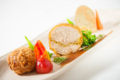 3 modern cusine in 1 dish Royalty Free Stock Photography