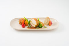 3 modern cusine in 1 dish Stock Photos
