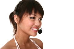 Modern Customer Service Smilin Royalty Free Stock Image