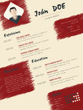 Modern cv curriculum vitae resume with scribbled elements Royalty Free Stock Photos