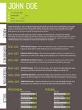Modern CV-meritförteckning med alltför förenklad design Royaltyfri Foto