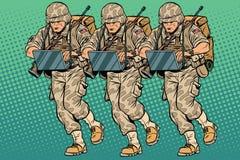 Modern cybersoldat för trupp royaltyfri illustrationer